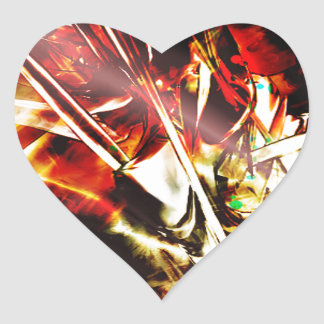 EPIC ABSTRACT d3s3 Heart Sticker