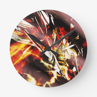 EPIC ABSTRACT d3s3 Round Clock