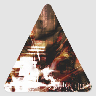 EPIC ABSTRACT d4s3 Triangle Sticker