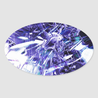 EPIC ABSTRACT d5s3 Oval Sticker