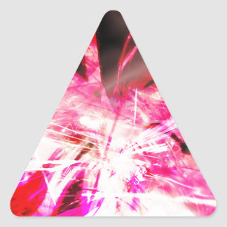 EPIC ABSTRACT d7s3 Triangle Sticker