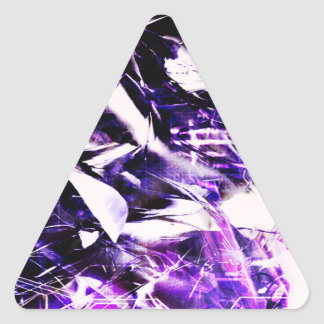 EPIC ABSTRACT d8s3 Triangle Sticker