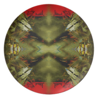 EPIC ABSTRACT ST1 TEN MELAMINE PLATE