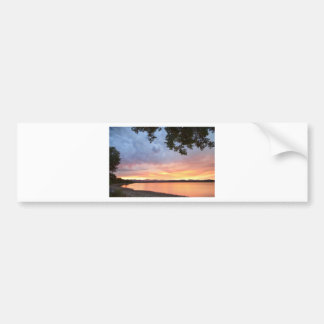Epic August Colorado Sunset Car Bumper Sticker