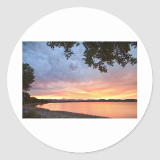 Epic August Colorado Sunset Classic Round Sticker