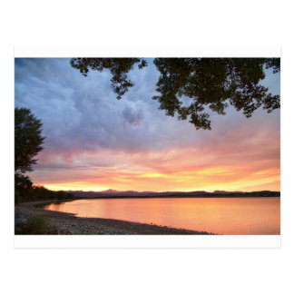 Epic August Colorado Sunset Postcard