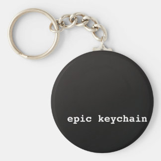 Epic Basic Round Button Keychain