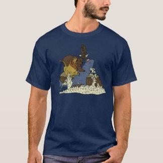 Epic Battle Shark vs Lion vs Bear vs Eagle T-Shirt