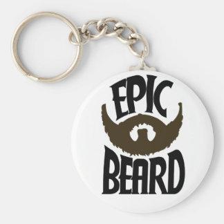 Epic Beard Basic Round Button Keychain