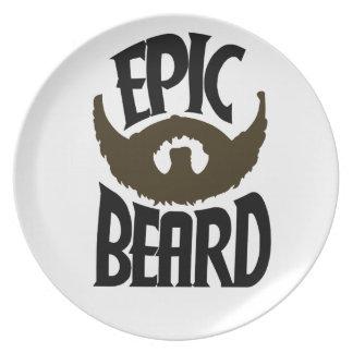 Epic Beard Dinner Plate