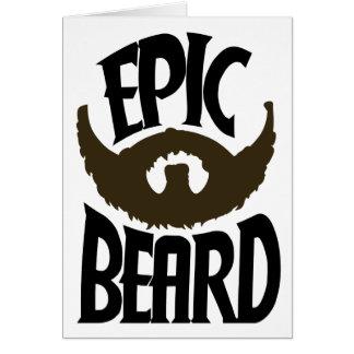 Epic Beard Greeting Card