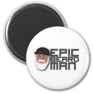 Epic Beard Man 2 Inch Round Magnet