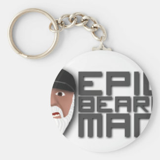 Epic Beard Man Basic Round Button Keychain