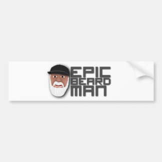 Epic Beard Man Car Bumper Sticker