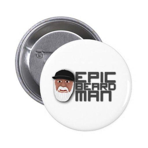 Epic Beard Man Buttons