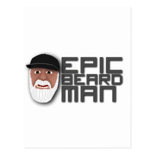 Epic Beard Man Postcards