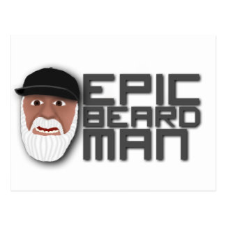 Epic Beard Man Postcard