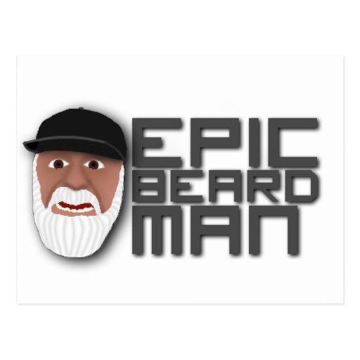 Epic Beard Man Post Card