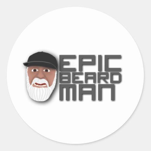 Epic Beard Man Sticker