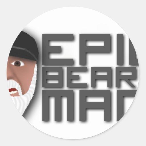 Epic Beard Man Stickers