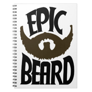 Epic Beard Spiral Note Books