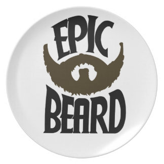 Epic Beard Party Plates