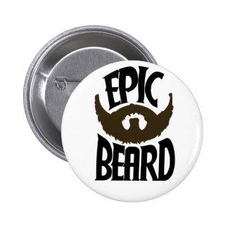 Epic Beard Pinback Button