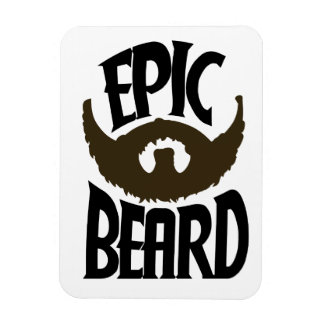 Epic Beard Rectangular Magnet