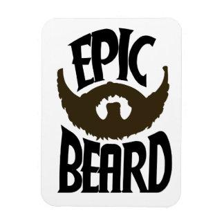 Epic Beard Rectangular Photo Magnet