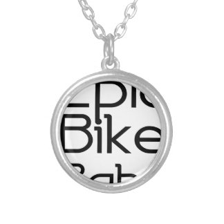 Epic Bike Baby Silver Plated Necklace