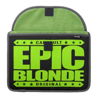 EPIC BLONDE - Warrior Blonde, Enslaver of Weak Men Sleeves For MacBooks