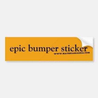 Epic Bumper Sticker