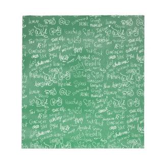 Epic Chalkboard Moods Memo Note Pad