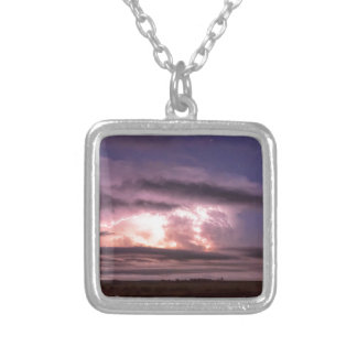 Epic_Cloud_To_Cloud_Lightning_Storm Silver Plated Necklace
