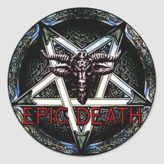 Epic Death Pentagram Round Sticker