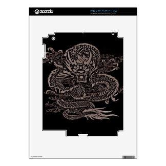 Epic Dragon Grey iPad 2 Decals