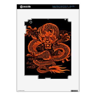 Epic Dragon Orange iPad 3 Decals