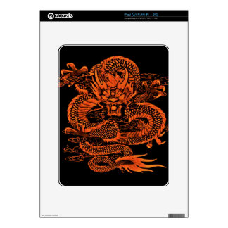 Epic Dragon Orange iPad Skins