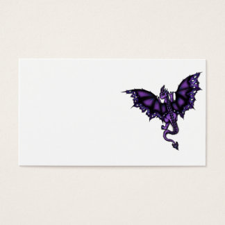 epic dragon purple business card
