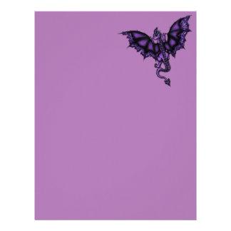epic dragon purple letterhead