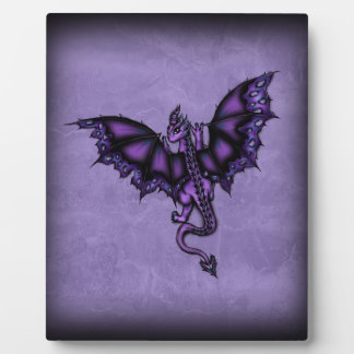 epic dragon purple plaque