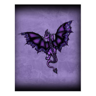 epic dragon purple postcard