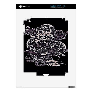 Epic Dragon White Decal For The iPad 2