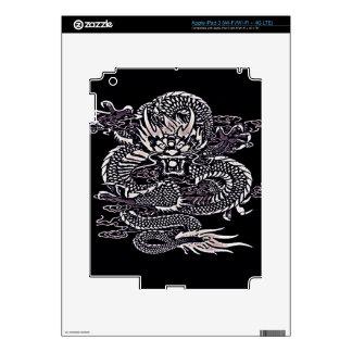 Epic Dragon White iPad 3 Skin