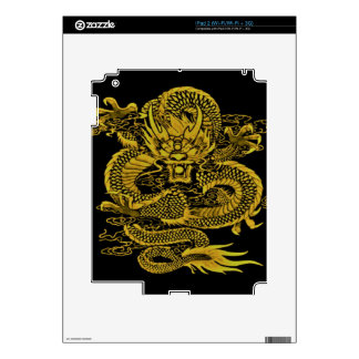 Epic Dragon Yellow Decals For iPad 2