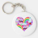 Epic Eighties Explosion Heart Keychain