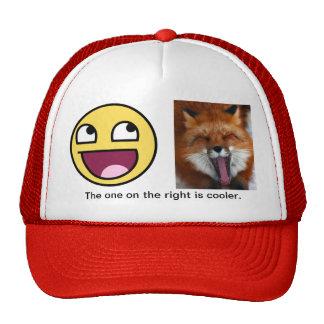Epic face comparison. trucker hat