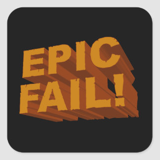 Epic Fail! 3D Stickers