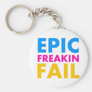 Epic Fail Basic Round Button Keychain