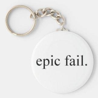 epic fail. basic round button keychain